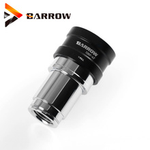 Barrow male to female black silver bold water cooling brass fittings seal up lock quick connector stop 1 set TZKMF-V2