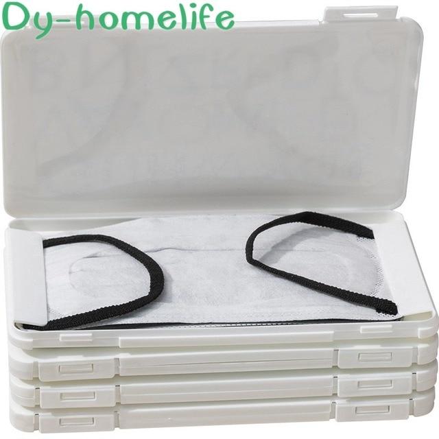 PP Plastic Mask Storage Box Korean Cartoon Portable N95 Medical Masks Storage Outdoor Home Travel Anti-virus Hygiene Products 4