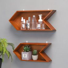 Retro Solid Wood Storage Rack Wall Hanging Arrow Storage Holder Shelf On The Background Decoration Wall Home Organization Shelf цена 2017