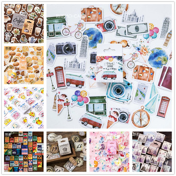 (42 Styles can Choose) Vintage Travel Boxed Stickers DIY Scrapbooking Paper Diary Planner Wedding Album Sealing Decoration @TZ