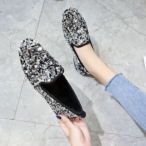 Flash Sequins Women Flats 2020