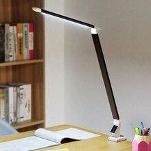 Artpad Modern High Power Led Lamp Desk AC85-220V 12W Folding Clamp Table Light Dimmable Read Study Office Lighting Three Colors