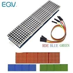 MAX7219 матричный модуль для микроконтроллера Arduino 4 в одном дисплее с 5P линией красный зеленый синий
