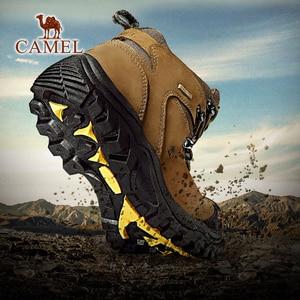 CAMEL Waterproof High Top Hiking Shoes High Quality Hot Sale Outdoor Climbing Trekking Shoes(China)