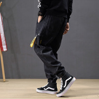 Winter Men Jeans Loose Mens Harem Casual Pants Fashion Streewear Man Trousers Solid Large Size Japanese Casual Pants Hip Hop