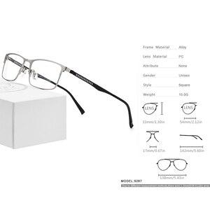 Image 3 - Оптические очки из FONEX сплава, 2019, квадратные очки для близорукости по рецепту, оправа для мужчин, мужские металлические полностью корейские очки, очки 9287