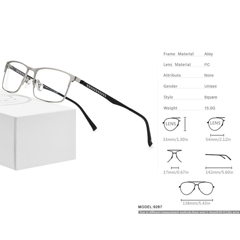 Image 3 - FONEX Alloy Optical Glasses 2019 Square Myopia Prescription Eyeglasses Frame Men Male Metal Full Korea Eyewear Spectacles 9287-in Men's Eyewear Frames from Apparel Accessories on AliExpress