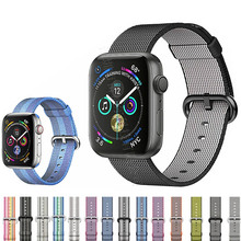 цена на Nylon woven strap for Apple Watch 38/ 42mm strap fabric with a variety of nylon straps for iwatch 3/2/1  wrist strap accessories
