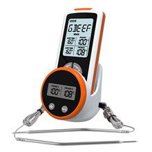 Grill piekarnik kuchnia termometr z zegarem 2 sondy zdalne sterowanie bezprzewodowe cyfrowy termometr do mięsa Grill jedzenie piekarnik palacz tanie tanio CN (pochodzenie) Termometry kuchenne Termometry domowe Z tworzywa sztucznego -50C~300C 2X AAAbatteries