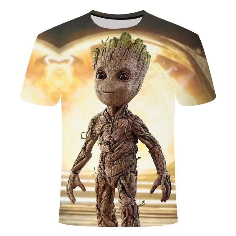 Superhero Groot Movie Voogd Van De Galaxy T-shirt Zomer Nieuwe Mannen3D Print Mannen En Vrouwen Baby Groot Bloempot Groot Tshirt