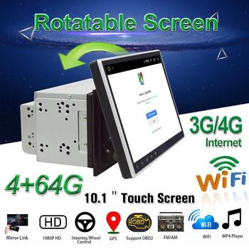 "2DIN Car DVD Player 10.1"" Android 8.1 Car Multimedia Player with 8 Core OBD2 GPS BT WiFi 3G/4G Car Radio Stereo Audio Video"