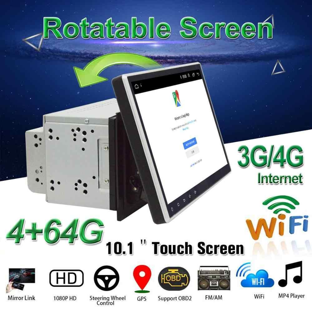 """2DIN 車 DVD プレーヤー 10.1 """"アンドロイド 8.1 カーマルチメディアプレーヤー 8 コア OBD2 GPS BT WiFi 3 グラム /4 3g カーラジオステレオオーディオビデオ"""