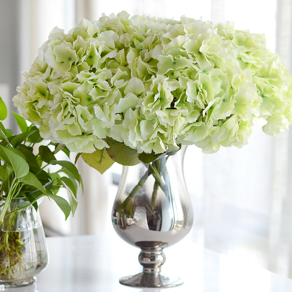 Simulation Bouquet 5 Heads Big Hydrangea Silk Flower Bouquet Simulation Plants Table Office Home Hotel Party Wedding Decoration