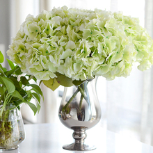 Simulation Bouquet 5 Heads Big Hydrangea Silk Flower Plants Table Office Home Hotel Party Wedding Decoration