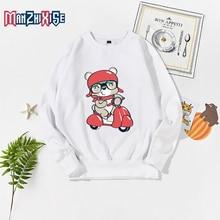 New Girls Casual Autumn Cartoon Sweatshirt Long Sleeve Cute Bear Printed Kids Hoodies Fashion Child Boys Clothing