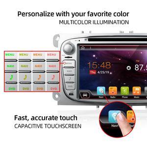 Image 2 - Bosion 2 din Android 10.0 araç dvd oynatıcı ford odak mondeo s max bağlantı radyo araba HD araba multimedya oynatıcı GPS Navi ile kamera