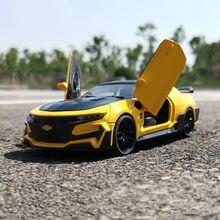 Novo 1/36 diecasts & brinquedo rápido chevrolet bumblebee carro estático modelo coleção brinquedos para crianças presente de natal