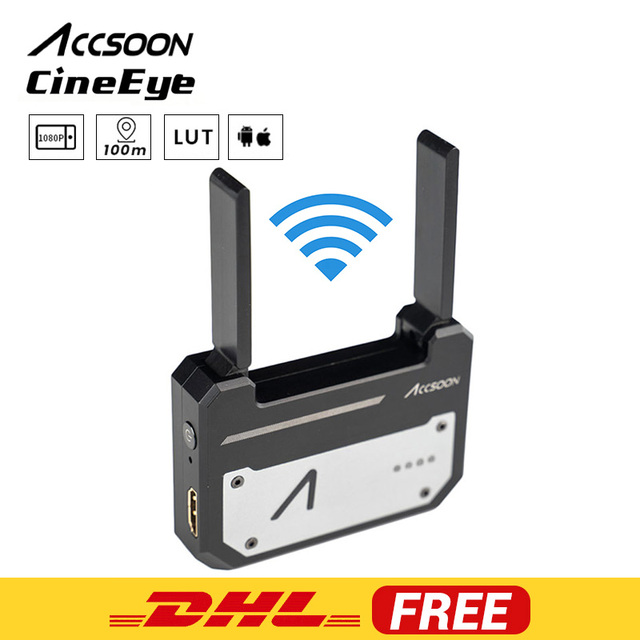 In Stock Accsoon CineEye 5G Wireless 1080p WiFi HDMI Transmitter Image Transmission to 4 Devices for Android IOS Garyscale RGB