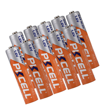 10 Uds PKCELL 1,6 V 900mWh níquel Zinc ni zn AAA batería recargable NIZN batería recargable para cámara digital, linterna, juguete