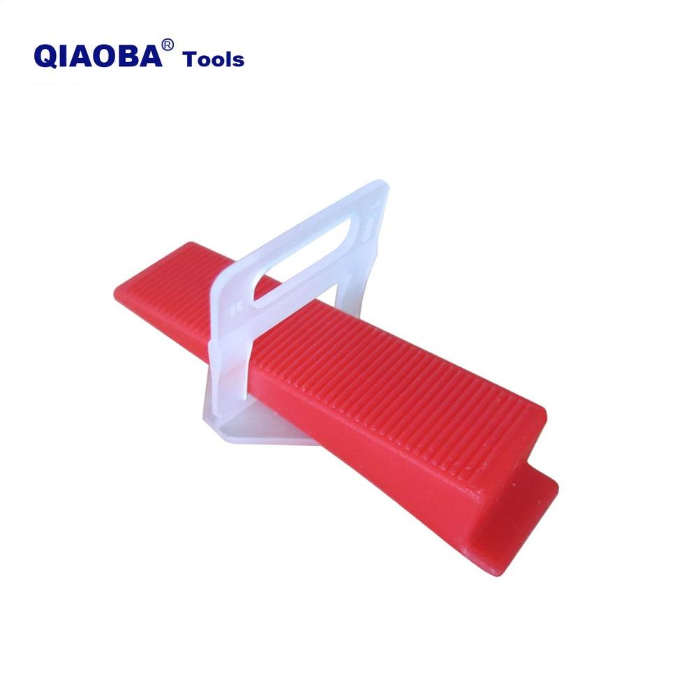 401pcs Tile Leveling System 1mm 300pcs Clips+100pcs Wedges +1piece Plier Plastic Tile Spacers Tiling Tools