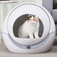Automatic Self Cleaning Cat Litter Box Cat Sandbox Closed Tray Toilet Rotary Training Detachable Bedpan Smart Cat Litter Box