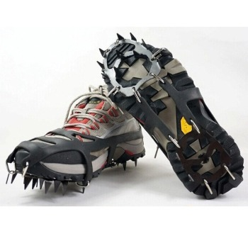 Outdoor 18-tooth Silicone Crampons, Stainless Steel, Snow Climbing, Non-slip Shoe Covers, Rock Climbing, Ice Crampons