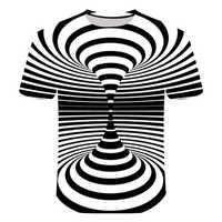 2019 moda novo padrão psychedelic 3d t camisa curto sleeveprinting o pescoço camisetas personalidade das mulheres dos homens unisex verão topos
