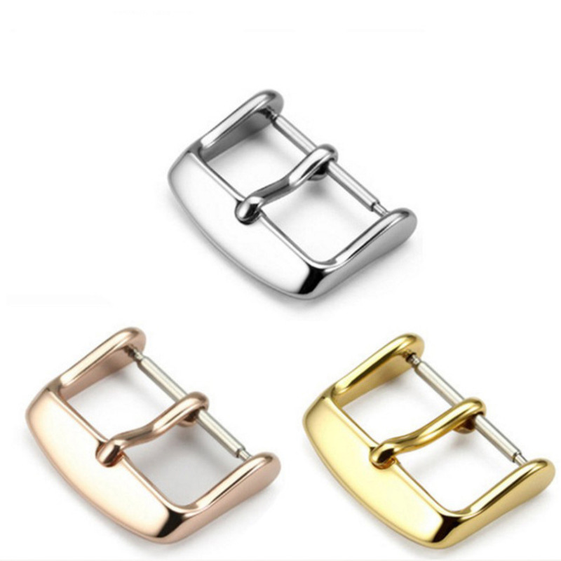 Universal Watch Buckle Accessory 12 14 16 18 20 22mm Electroplate Metal Stainless Steel Wristband Button High Quality Band Clasp
