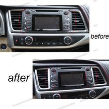 lsrtw2017 matt silver abs car dashboard middle vent chrome trims for toyota highlander 2013 2014 2015 2016 2017 2018 2019 kluger lsrtw2017 shiny silver abs car rear window wiper cover trim for toyota highlander 2013 2014 2015 2016 2017 2018 2019 kluger