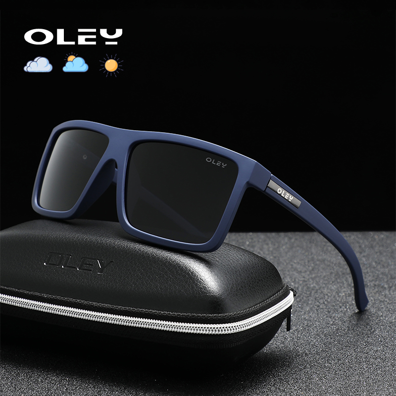 OLEY Classic Polarized Sports Sunglasses Fashion Photochromic Goggles Stretch Paint Night Vision Glasses Support Custom Logo