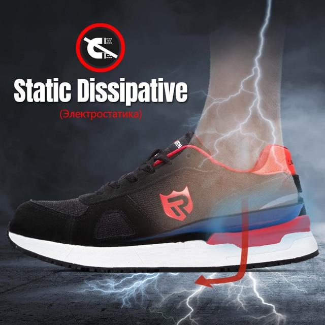 LARNMERN أحذية أمان رجالية في الهواء الطلق SRC خفيفة الوزن أحذية رياضية 4