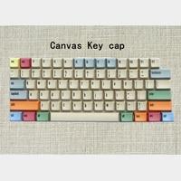 In Stock PBT XDAS Canvas Keycap Set dye subbed keycaps