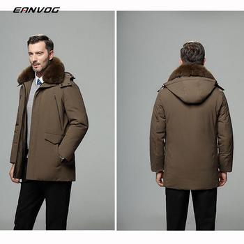Men fur Collar Coat Winter Puffer Outerwear Duck Down Jacket Men Winter Canada Jacket Abrigos Hooded Medium Long Down Parka