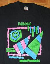 Bahamas t-shirt point unique Surf plage patineuse Tropical bateau Vintage 90S 80S Xl(China)