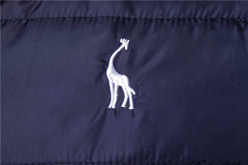 2019 neue Giraffe Marke Winter Jacke Männer Hoodied Weste Männer Zipper Herren Jacke Ärmellose Casual Winter Weste Männer