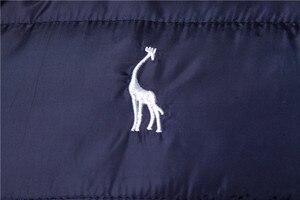 Image 4 - 2019 nowa żyrafa marka kurtka zimowa mężczyźni bluza z kapturem kamizelka mężczyźni zamek mężczyzna kurtka bez rękawów na co dzień zima kamizelka mężczyźni