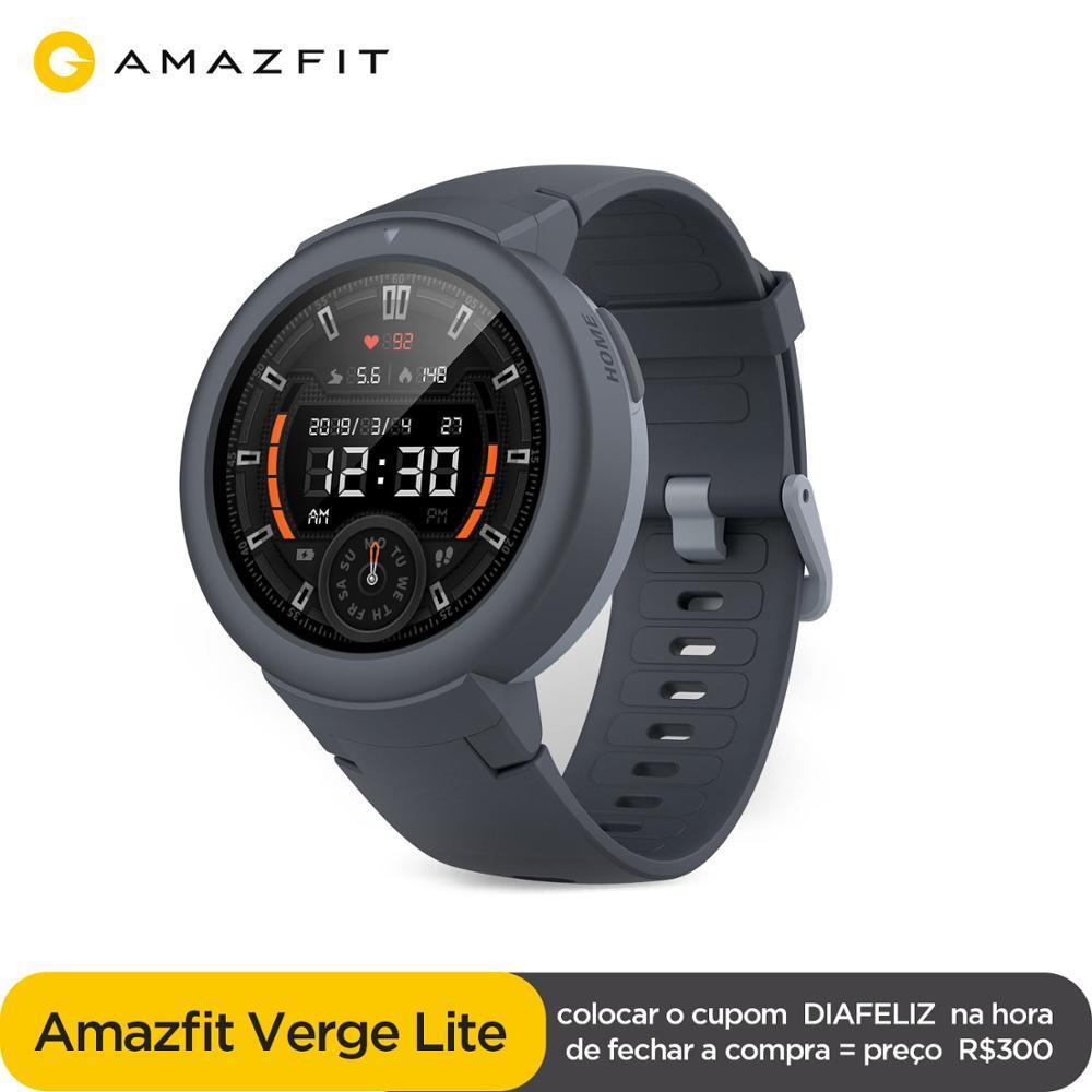 Global Amazfit Verge Lite Smartwatch IP68 Смарт-часы GPS ГЛОНАСС длительный срок службы батареи AMOLED дисплей для Android iOS