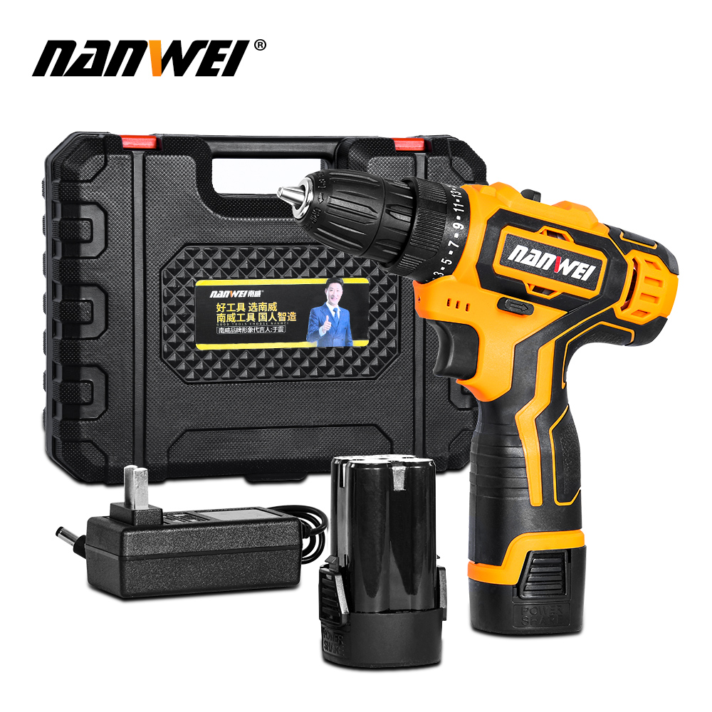 6000mAh Rechargeable Lithium <font><b>Battery</b></font> Screwdriver Household Electric <font><b>Drill</b></font> <font><b>Driver</b></font> Double Speed Cordless <font><b>Drill</b></font> image