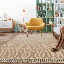 Muzułmanin Retro dywan do salonu etniczne Boho sypialnia Tassel antypoślizgowy dywanik Macrame Polar mata podłogowa Tatami mata modlitewna dywany