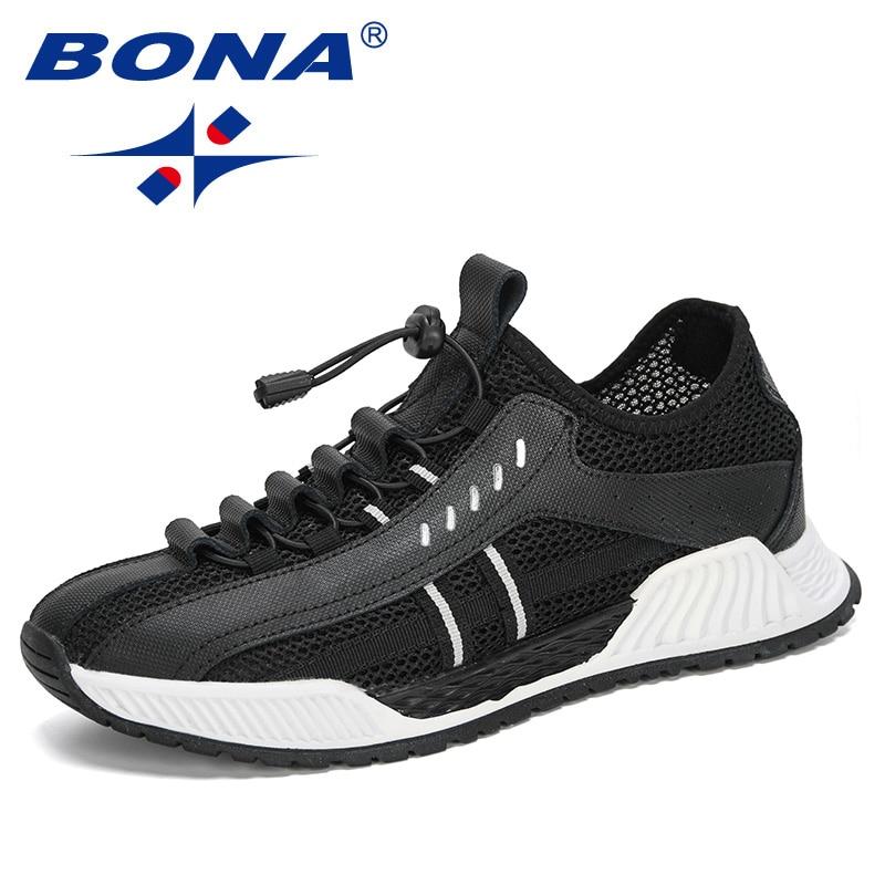 BONA 2020 New Style Popular Casual Shoes Men Outdoor Fashion Slip-On Walking Sneakers Man Leisure Footwear Zapatillas Hombre