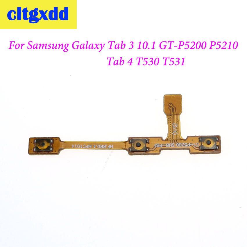 Cltgxdd 1pc Power On/off & Volume Buttons Key Flex Cable For Samsung Galaxy Tab 3 10.1 GT-P5200 P5210 P5220 Tab 4 T530 T531