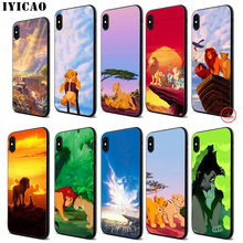 IYICAO The Lion King Soft Black Silicone Case for iPhone 11 Pro Xr Xs Max X or 10 8 7 6 6S Plus 5 5S SE iyicao marvel comics the black panther soft black silicone case for iphone 11 pro xr xs max x or 10 8 7 6 6s plus 5 5s se