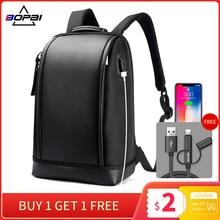 ¡Nuevo diseño 2018! BOPAI mochila escolar para hombres, mochila para ordenador portátil con estilo, mochila de negocios para hombres, mochila USB, mochilas escolares de moda