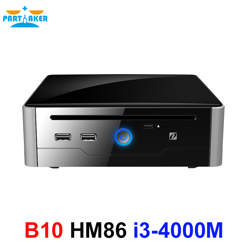 Partaker Mini PC Gigabit Micro Computer Wifi Intel Core I3 4000M Processor Win10-Core Linux I3 With DVI HDMI USB3.0