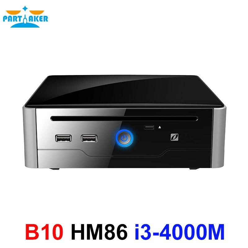 Partaker Mini PC Gigabit Micro Computer Wifi Intel Core I3 4000M Processor Win10-Core Linux I3 With DVI HDMI USB3.0