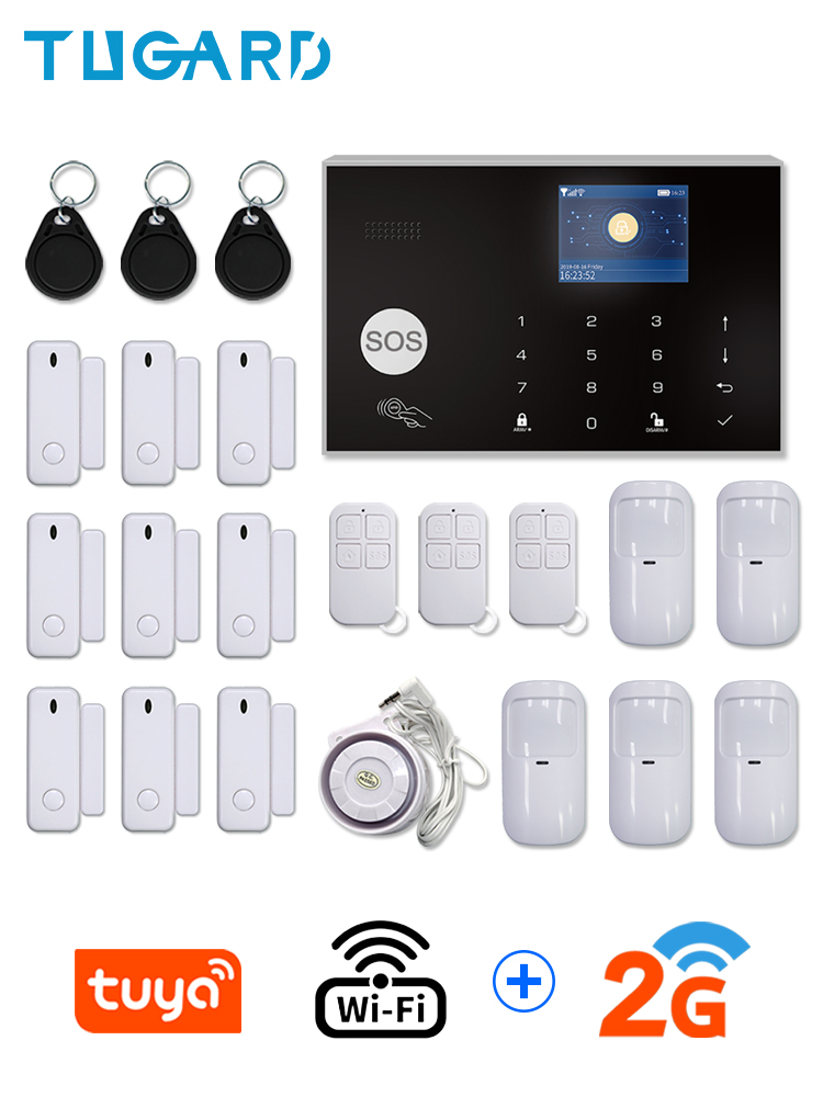 Security-Alarm-System Lcd-Touch-Keyboard Tuya Apps-Control WIFI GSM 433mhz Home Burglar