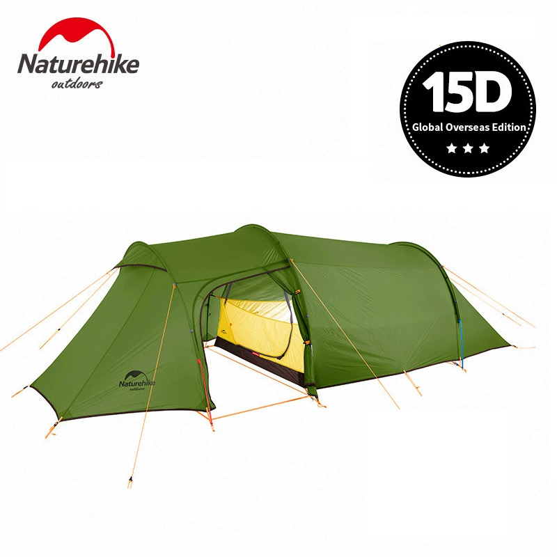 Naturehike Opalus 15D Nylon 2 Person Tent Outdoor Ultralight Camping Tent Double Man Tunnel Tent