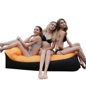 Fast Inflatable Air Lounger Sofa Bed Camping Furniture lazy Sleeping Bag And Air Beach Chair Seat Cushion in Outdoor
