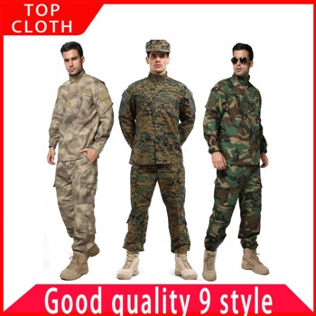Male Military  tactical Uniform US Army Suit  Airforce Desert Jungle Outdoor Hunting Costumes ACU Camo Camouflage Combat Jacket men jungle outdoor tactical military combat uniform camouflage suit hunting long sleeve jacket long pants trousers set clothing