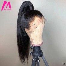 360 dantel Frontal peruk 13x6 dantel ön İnsan saç peruk brezilyalı düz kısa uzun siyah kadınlar için doğal ön koparıp Remy saç
